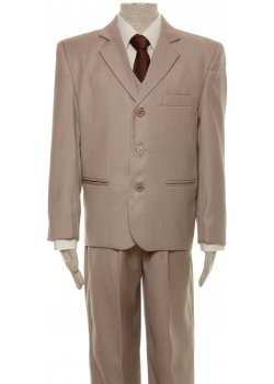 Boys Suit Set In Beige Five Piece