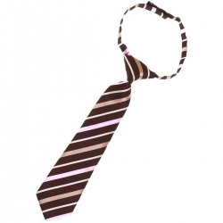Baby and toddler boys tie for 2yrs to 6yrs pre tied in black with pink and dark gold stripes