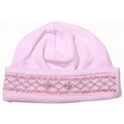 Lovely premium quality hand smocked baby hat
