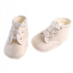 Little Darlings baby boys ivory christening shoes 100% silk
