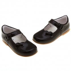 Baby Girls Black Shoes in Patent Leather