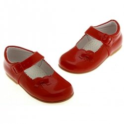 Baby Girls Red Shoes in Patent Leather