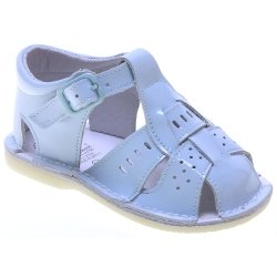 Baby Boys Blue Patent Sandles