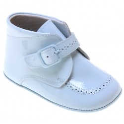 Spanish Baby Boys Blue Patent Shoes