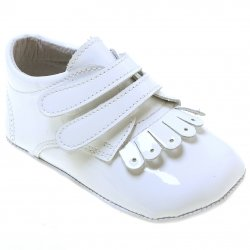 Baby Boys White Shoes With Double Strap