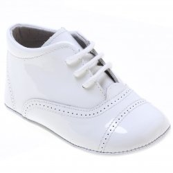 Classic Oxford White Pram Shoes For Baby Boys