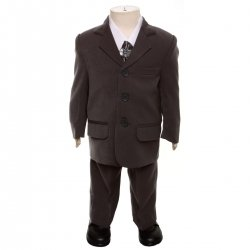 Baby Boys Grey Suit Set 5 Piece