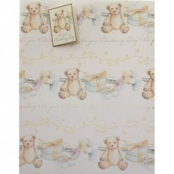 Christening Gift Wrap Papar