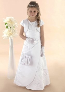 Communion Dress With Starburst Crystal Beading And Bolero