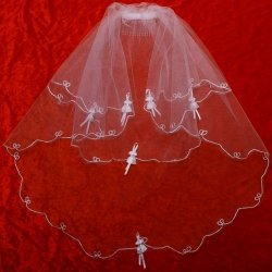 First Holy Communion Veil Decorated By Bows