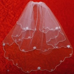 First Holy Communion Veil Flowers Decoration