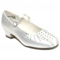Holy Communion Shoes For Girls Ray Of Diamonate Decoration