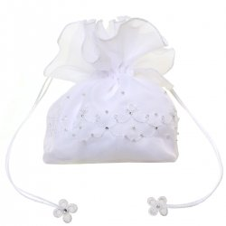 First Holy Communion Dolly Bag With Beads And Diamantes