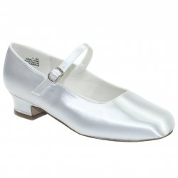 First Holy Communion Shoes In Satin White