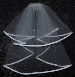 First Holy Communion Veil With Diamantes Cross