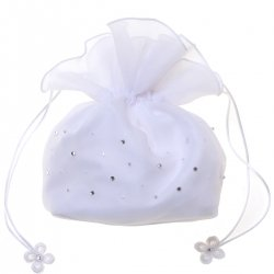 Communion Dolly Bag With Beads And Diamantes