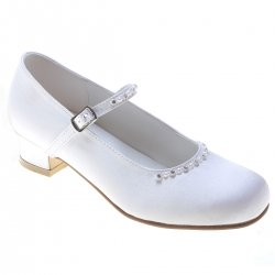 Diamantes And Pearls Girls Communion Shoes