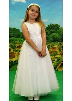 Little People First Holy Communion Dress Elabrately Beaded