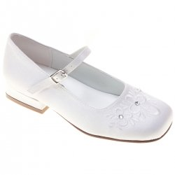 First Holy Communion Girls Shoes Flowers 3 Diamantes