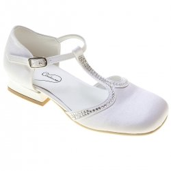 First Holy Communion Girls Shoes Diamantes Rim