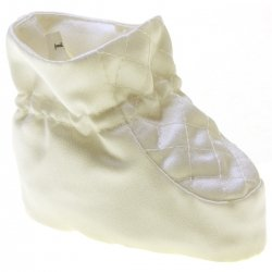 Linzi Jay Baby Boys Satin Fabric Ivory Christening Shoes
