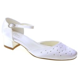 Girls Communion Shoes Scattered Diamante From Linzi Jay