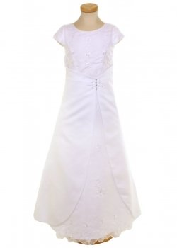 Embroidered Communion Dress With Bag By Linzi Jay