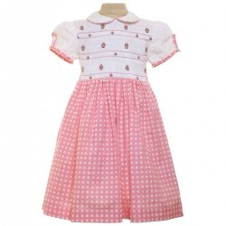 Traditional Pink Gingham Hand Smocked Dress