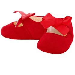 Mayoral Girls Mary Janes Red Ribbon Pram Shoes
