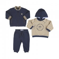 Mayoral Baby Boys 3 Piece Navy Hooded Tracksuit Set
