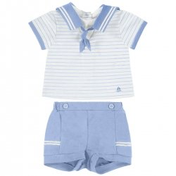 Mayoral Baby Boys Blue White Sailor Outfit