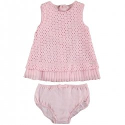 Sale Mayoral Baby Girls Pink Rose Dress With Panty