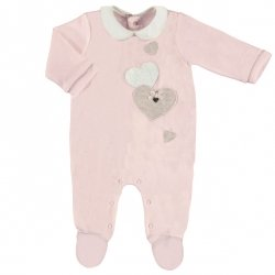 Mayoral Baby Girls Pink One Piece Heart Romper Outfit Autumn Winter