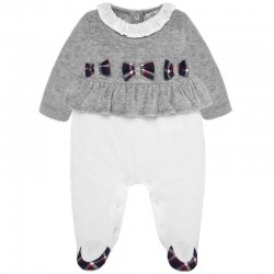 Mayoral Baby Girls Grey Off White One Piece Outfit 2019 Autumn Winter