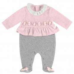 Mayoral Baby Girls Pink Grey One Piece Outfit Autumn Winter