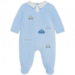 Mayoral Baby Boys Blue One Piece Car Romper Outfit Autumn Winter