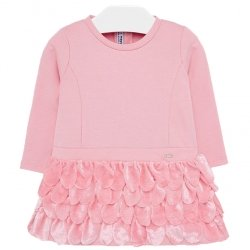 Mayoral Baby Girls Pink Flower Petals Dress Autumn Winter