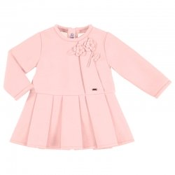 Mayoral Baby Girls Pink Dress Flowers Appliques Autumn Winter