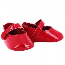 Mayoral Baby Girls Red Pram Shoes Scallop Pattern