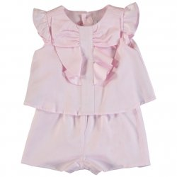 Mayoral Spring Summer Baby Girls Pink Playsuit