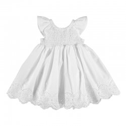 Mayoral Baby Girls White Spring Summer Smocked Floral Dress