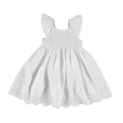 Mayoral Girls Spring Summer White Smocked Floral Dress