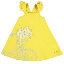 Mayoral Girls Spring Summer Lemon Yellow Sleeveless Dress