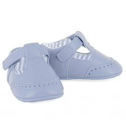 Mayoral Baby Boys Blue T Bar Pram Shoes Velcro Fastening