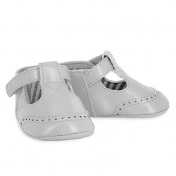 Mayoral Baby Boys Light Grey T Bar Pram Shoes