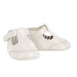 Mayoral Baby Boys Ivory T Bar Pram Shoes