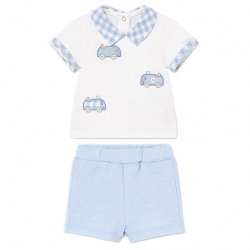 Mayoral Baby Boys White Top And Shorts Set Car Decoration
