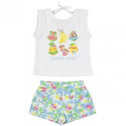 Mayoral Girls Spring Summer Party White Top Blue Floral Shorts Set