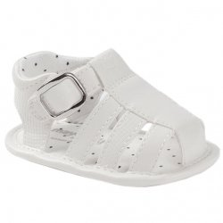 Mayoral Baby Boys White Patent Sandals