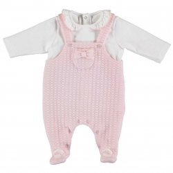 044000bbf716 Mayoral Baby Girls Pink All In One Footed Romper